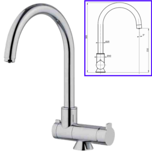 3-Way Drinkable Tap 3-Way Separate Chrome Window Mixer - AqaLight Water Purifiers Milan and Monza
